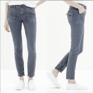 Madewell Skinny Fatigue Jeans with Zippered Ankles